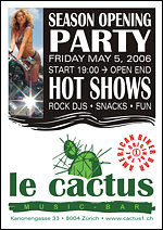 Season Opening Party at Le Cactus *check out the flyer*